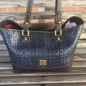 RARE Dooney & Bourke Tessuta Leather Woven Shopper